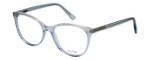 Vivid Designer Reading Eyeglasses Splash 75 in Blue Sparkle 52mm Progressive