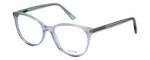 Vivid Designer Reading Eyeglasses Splash 75 in Blue Sparkle 52mm Bi-Focal