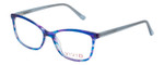 Vivid Designer Reading Eyeglasses 893 Marble Blue/Purple 52 mm Custom Lens