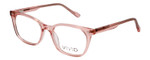 Vivid Designer Reading Eyeglasses 912 Crystal Rose Pink Clear 51 mm Bi-Focal