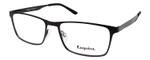 Esquire EQ1524 Rectangular Metal Frame Eyeglasses in Satin Black 55 mm