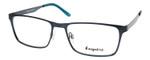 Esquire EQ1524 Designer Metal Frame Eyeglasses in Satin Navy 55 mm Custom Lens