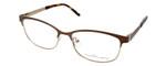 Ernest Hemingway H4686 Semi-Rimless Eyeglasses in Brown 51 mm Progressive