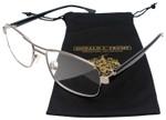 Donald Trump Designer Metal Reading Glasses DTR 04 in Gunmetal Silver Black 53mm