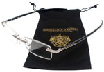 Donald Trump Designer Rimless Metal Reading Glasses DTR 06 Gunmetal Silver 48mm