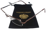 Donald Trump Designer Semi-Rimless Metal Reading Glasses DTR07 Brown Copper 49mm