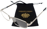 Donald Trump Authentic Designer Metal Reading Glasses DTR 08 Silver Black 55mm