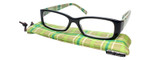 Calabria Beth Rectangular Designer Reading Glasses 50mm