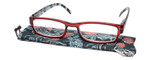 Calabria Kylie Rectangular Designer Reading Glasses 50mm