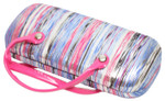 Calabria Feducci LuLu Eyeglass/Sunglass Striped Tote Hard Case