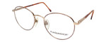 Calabria Designer Round Bi-Focal Reading Glasses Fundamental Gold 52mm :: Rx Bi-Focal