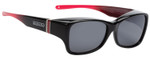 Jonathan Paul Fitovers Sunset Twilight Over Sunglasses Black Raspberry Red&Grey