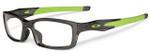 Oakley Rx Crosslink Reading Glasses in Smoke & Green (8033-0255)