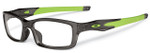 Oakley Rx Crosslink Eyeglasses in Smoke & Green (8033-0255) :: Custom Left & Right