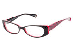Betsey Johnson Designer Eyeglasses Harajuku in Raven :: Custom Left & Right Lens
