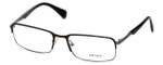 Prada Rx Designer Eyeglasses VPR61Q in Black/Brown & Gun-Metal :: Custom Left & Right Lens