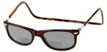 Clic Ashbury in Tortoise Polarized Bi-Focal Reading Sunglasses
