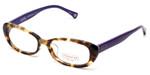 Coach Womens Designer Reading Glasses 'Cory' HC6035 in Spotty Tortoise & Purple (5103) 52mm