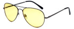 Calabria 1121 Night Driving Aviator Sunglasses with Yellow Tint