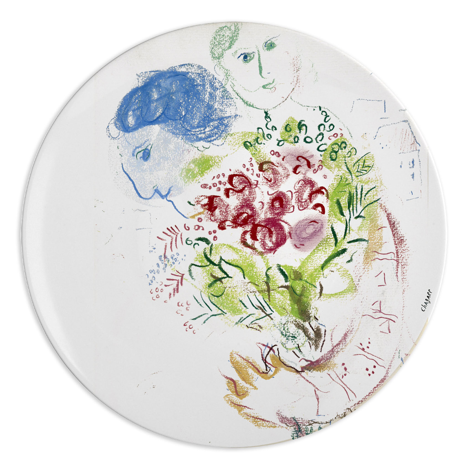 bernardaud-marc-chagall-the-bouquet-coupe-dinner-plate.  sc 1 st  Nehas China u0026 Crystal & Bernardaud Marc Chagall