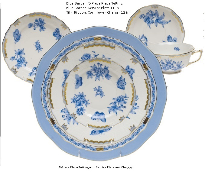 herend-blue-garden-5-piece-place-setting.jpg  sc 1 st  Nehas China \u0026 Crystal & Herend Blue Garden 5-piece Place Setting - Nehas China \u0026 Crystal