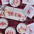 Juliska Country Estate Reindeer Games Hostess Tray 14x6 in CE24-73