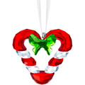 Swarovski Candy Cane Heart Ornament 2019 1.75x1.75x0.625 in 5403314 2019