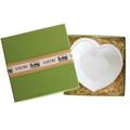 Vietri Lastra White Heart Dish 6.5 in. LAS-2675W