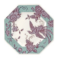 Spode Kingsley Octagonal Plate Teal 9.5 in 1685420