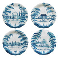 Juliska Country Estate Delft Blue Party Plates Set of Four 8.5 in CE63SET.44