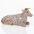 Herend Christmas Nativity Lying Cow 4.75x2x2.75 in BETH1-16139-0-00