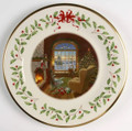 Lenox Annual Holiday Collector Plate Cozy Christmas 10.5 in 19th in Series 2009 811385