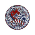 Royal Crown Derby Victoria Garden Blue & Red Full Cover Dinner Plate 10.7 in VGFBRG62701