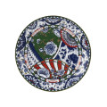 Royal Crown Derby Victoria Garden Blue, Green & Red Full Cover Dinner Plate 10.7 in VGFTRI62701