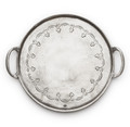 Arte Italica Vintage Round Tray with Handles 9.25 in VIN2345