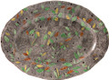 Gien Rambouillet Foliage Oval Platter 13 in. 0126C08F26