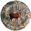 Gien Rambouillet Round Flat Dish Stag 13.5 in.
