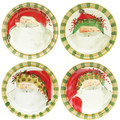 Vietri Old St. Nick Dinner Plate Set of Four 10.75 in OSN-7800