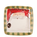 Vietri Old St. Nick Square Salad Plate 8.25 in. OSN_7801A