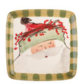 Vietri Old St. Nick Square Salad Plate 8.25 in. OSN_7801B