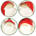 Vietri Old St. Nick Assorted Canape Plates 6.75 in. (Set of 4) OSN_7819