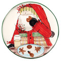 Vietri Old St. Nick Cookie Platter 13.75 in. OSN_7823