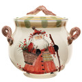 Vietri Old St. Nick Biscotti Jar 11x10 in. OSN-7844