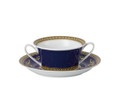 Versace Medusa Blue Cream Soup & Saucer