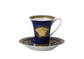 Versace Medusa Blue Coffee Cup and Saucer