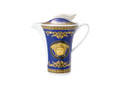 Versace Medusa Blue Creamer, Covered