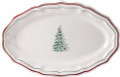 Gien Filets Noel Oval Platter 16 in.