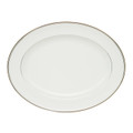 WATERFORD KILBARRY PLATINUM OVAL PLATTER, 15.25 in. 118266