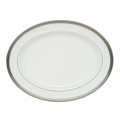 WATERFORD NEWGRANGE PLATINUM OVAL PLATTER, 15.25 in. 119982