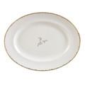 Vera Wang Wedgwood Gilded Leaf Oval Platter 13.75 in 5C101103001